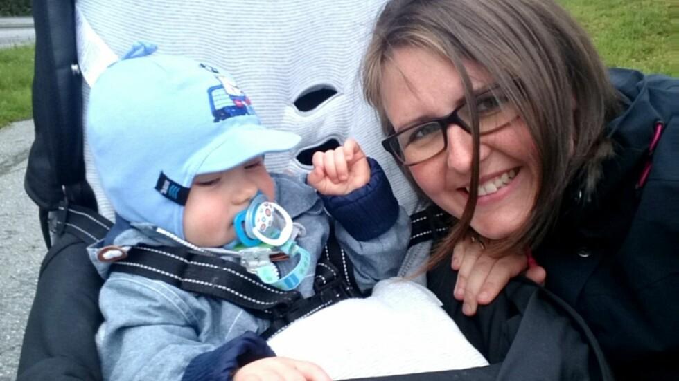 ÅPEN OM FØDSELSDEPRESJONEN: Etter en tøff start på livet som mamma, ønsker Grete å hjelpe andre kvinner i samme situasjon. Foto: Privat