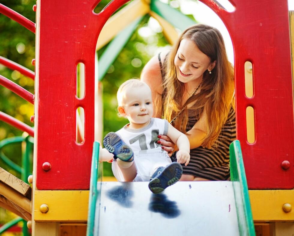 BESØK BARNEHAGEN: La barnet få bli kjent med de nye omgivelsene før oppstart, råder pedagogene. Foto: NTB Scanpix