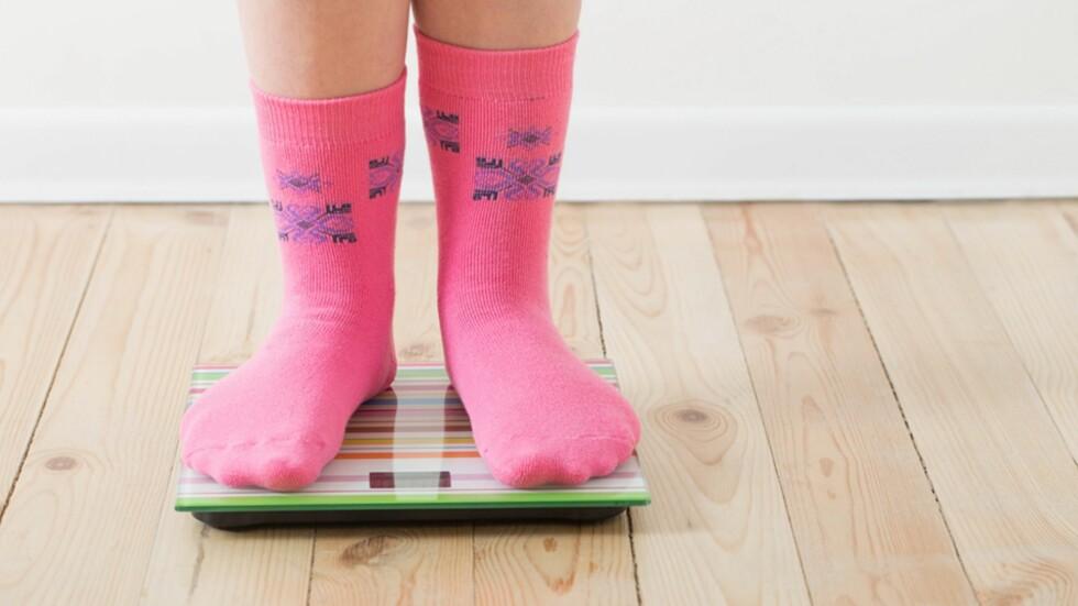 BARN OG VEKT: Kropp og vekt er et sensitivt tema, selv blant de aller yngste. Foto: NTB Scanpix
