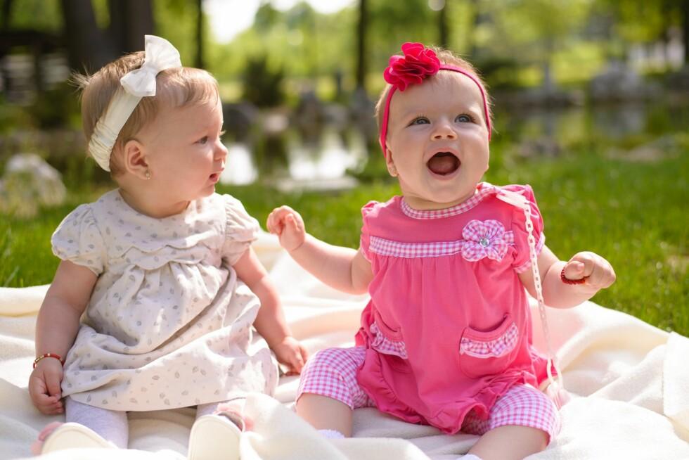 KODER HVERANDRES FØLELSER: Allerede ved fem måneders alder er babyer i stand til å kode hverandres følelser, i følge forskere på Brigham Young University i USA Foto: NTB/ Scanpix