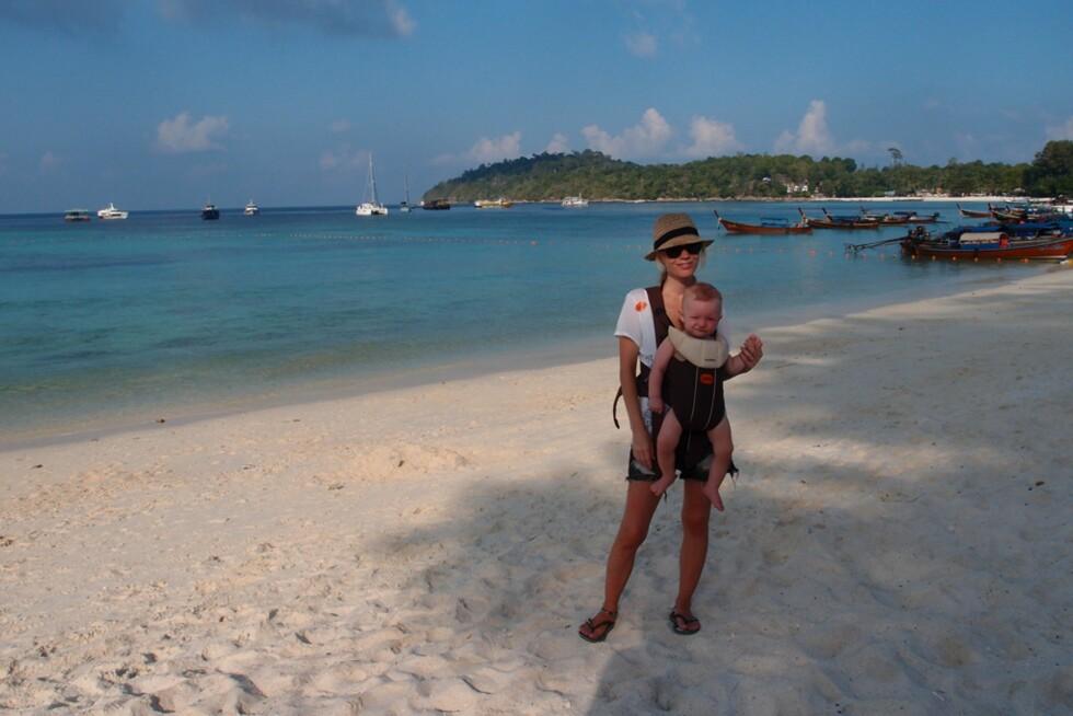 FANTASTISKE STRENDER: Thailands mange øyer er kjent for sine kritthvite strender med svært så behagelige badetemperaturer. Foto: Privat