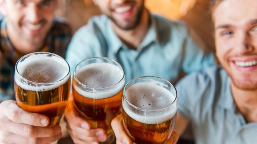 BABYSHOWER FOR FEDRE: Bleier og øl er de to viktigste ingrediensene på disse festene! Foto: NTB Scanpix