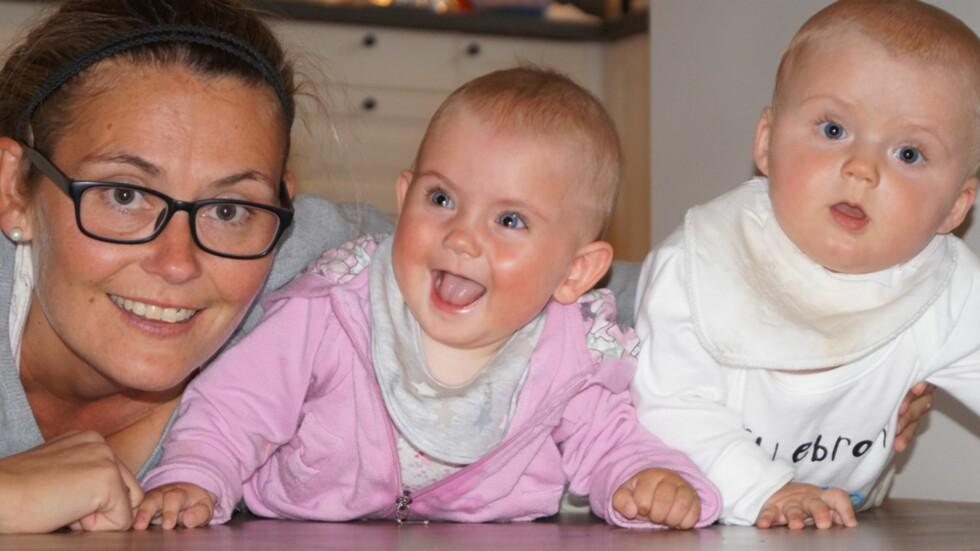SLET MED Å BLI GRAVID PÅ GRUNN AV CROHNS: I dag er Ann Kristin lykkelig som mamma til tvillinger. Foto: Privat
