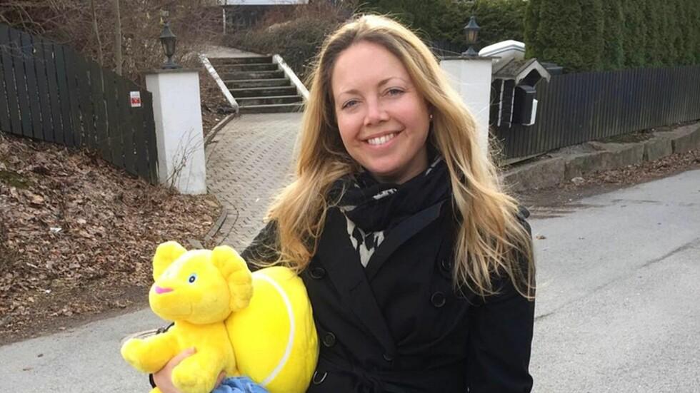 FÅR SPØRSMÅL OM NUMMER TO: Victoria Bryde hadde ikke vært mamma i mange måneder før hun fikk spørsmål om hun ikke skulle ha et barn til. Foto: Privat
