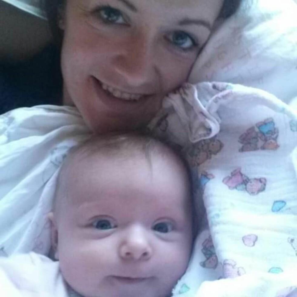 <strong>ANGRET PÅ NAVNEVALGET:</strong> Helt fra datteren var født, følte Camilla at navnet de hadde valgt ikke passet. Foto: Privat