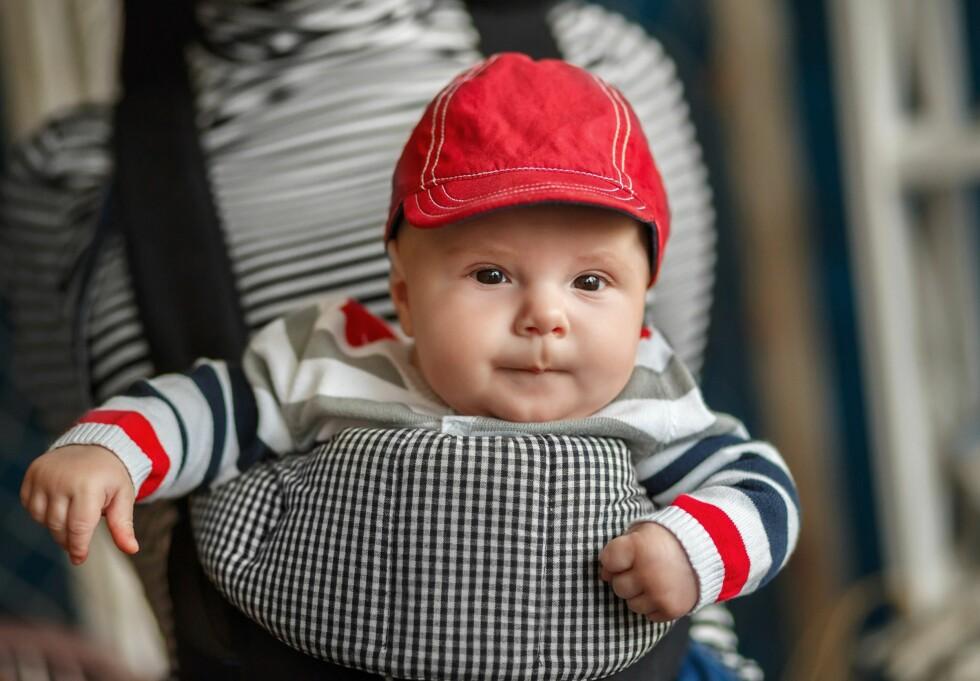 FEIL VEI: Spedbarn bør sitte innovervendt.  Foto: NTB/ Scanpix