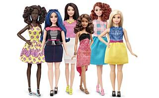 Nå kommer Barbiedukken i flere kroppsformer