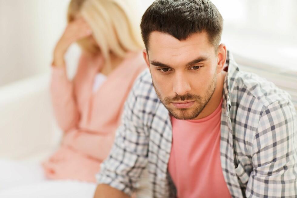 IKKE KLAR: - Om partneren din ikke er klar kan dette føre til svært mange problemer på sikt, selv om de fleste blir svært glade i barnet når det først kommer. Er dere i 20-årene, kan du la spørsmålet ligge litt og håpe at partneren skifter mening, sier psykolog Kjersti Hildonen Foto: Scanpix