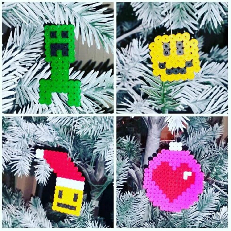 JULETREPYNT: Et morsomt alternativ til julekuler! Foto: Ellen Sandbugt / @sandbugtellen