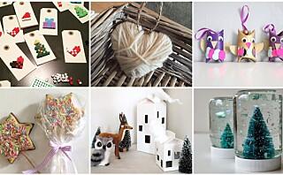 Juleverksted: 16 tips til ting dere kan lage