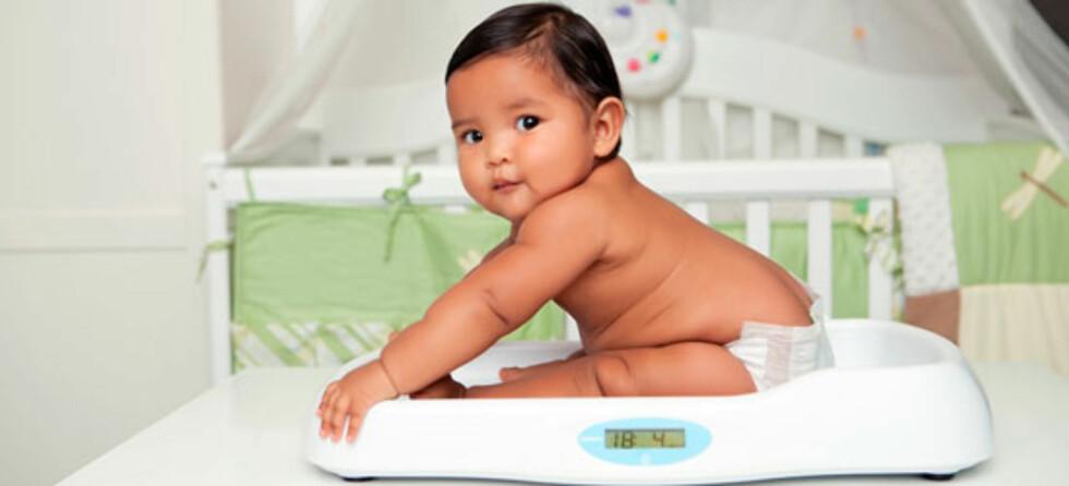 – Det er ikke vekt alene som avgjør om en baby er overvektig eller ikke, sier ernæringsfysiolog.Foto: Shutterstock.com ©