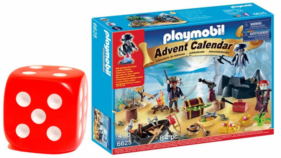 <strong>PLAYMOBIL PIRAT ADVENTSKALENDER:</strong> Julekalenderen får terningkast fem.