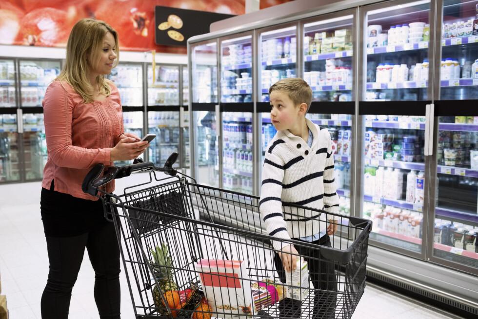 STOR UTGIFTSPOST FOR FAMILIER: Fire av ti svarer i en undersøkelse at de kunne ha brukt mindre penger på mat. Foto: NTB Scanpix
