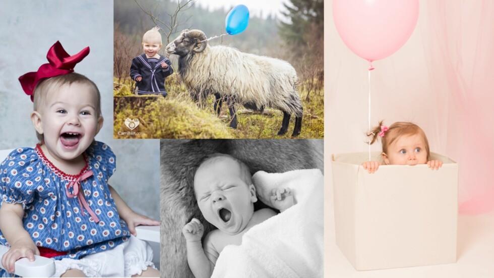 STOR VARIASJON: Babyfotografering kan gjøres i mange forskjellige miljøer. Foto: Fotografene