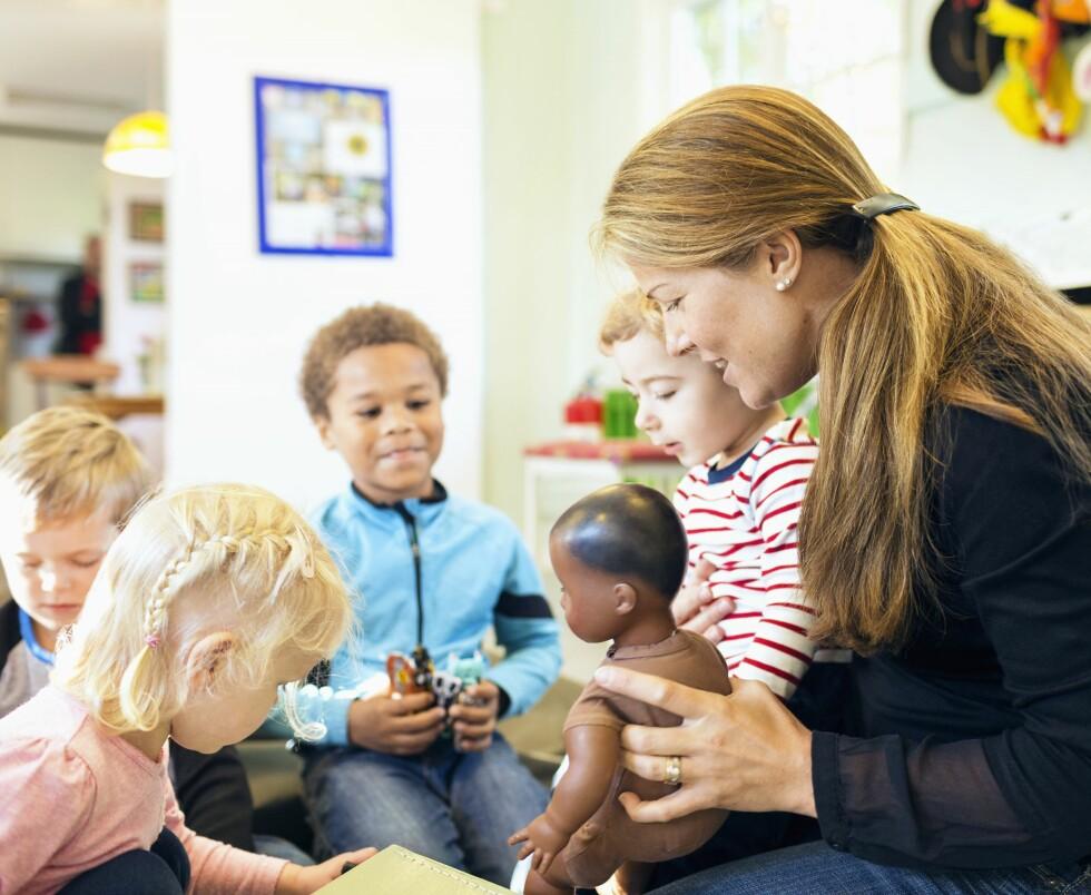 VIL IKKE BLI KALT TANTER OG ONKLER: - Bruk heller navnet vårt sier barnehagelærerne. Foto: NTB Scanpix