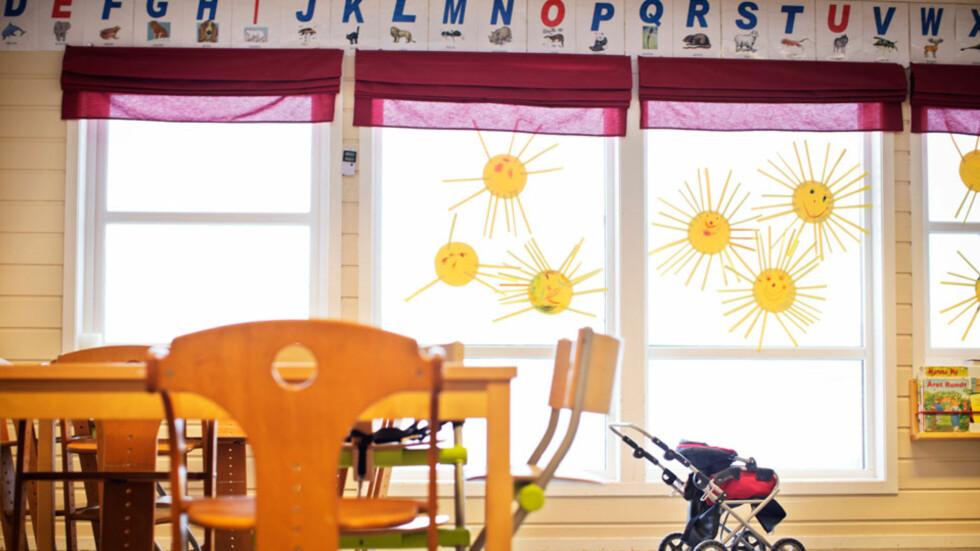 KLAR FOR BARNEHAGEN: Det er ifølge barnehagene et bredt spekter av ting foreldre lurer på i forbindelse med barnehagestart. Ikke alt er like lett å spørre om. Foto: NTB scanpix