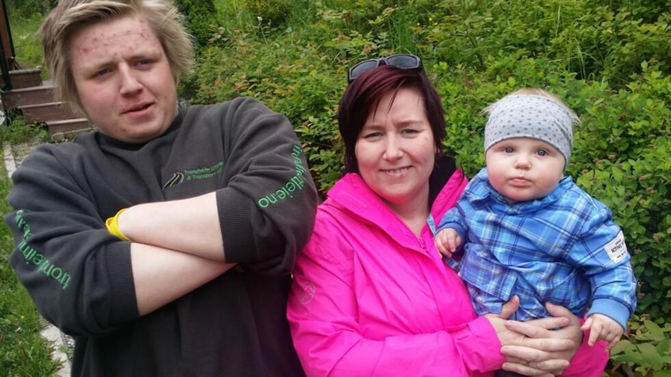 TENÅRINGS- OG BABYMOR: Jorunn er stolt av sine to sønner, Robin Andre og Svein Emil.  Foto: Privat