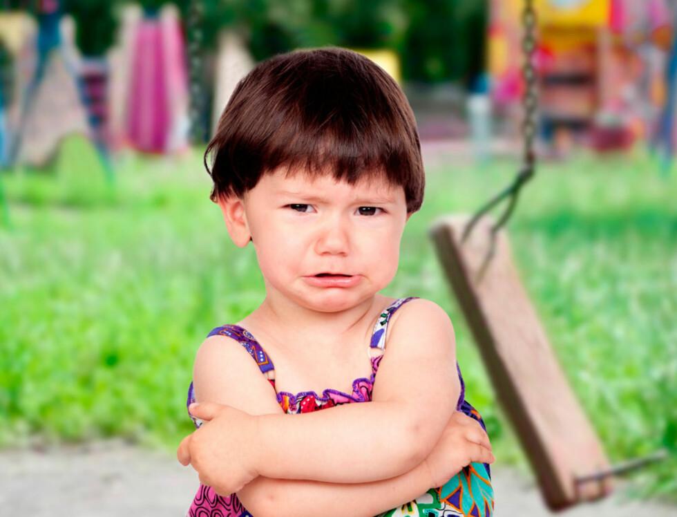 <strong>BLIR UTRYGG:</strong> Viser du barnet din utrygghet, smitter det. Foto: Shutterstock.com ©