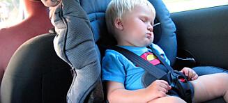 Bilsikring: 20% av norske barn utsatt for livsfarlige feil