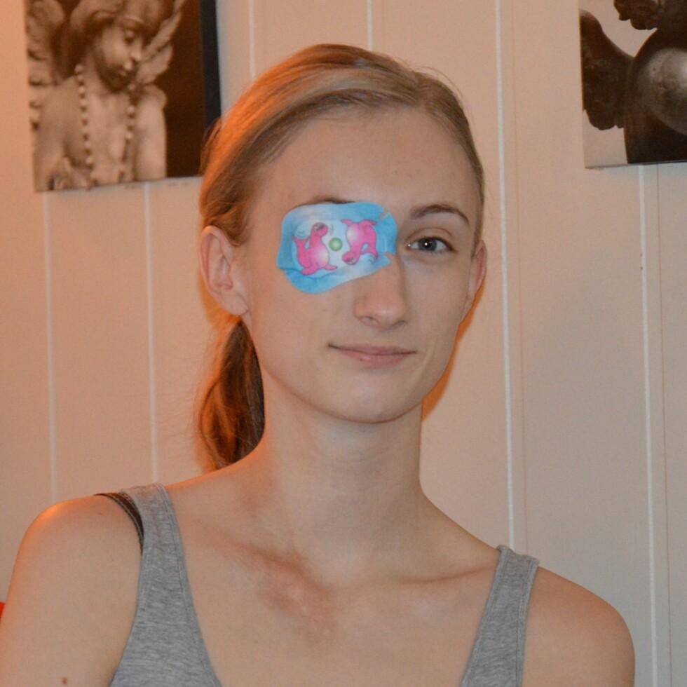 ØYELAPP: «Slik skal den brukes vennen min!» Foto: Privat