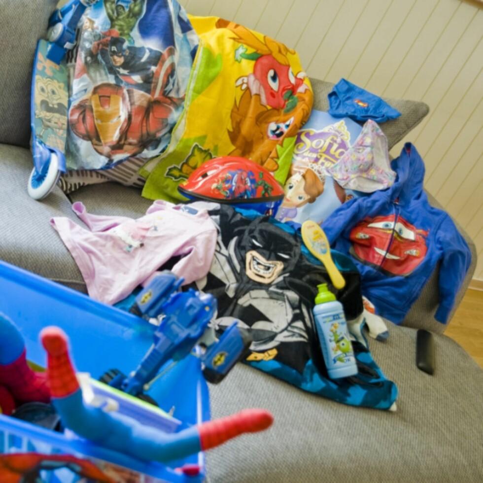 SUPERHELT-BONANZA: «Barnet mitt er han med Spidermancaps, Supermannskjorte, Lynet McQueen bukser og Ben10 sekk» Foto: Privat