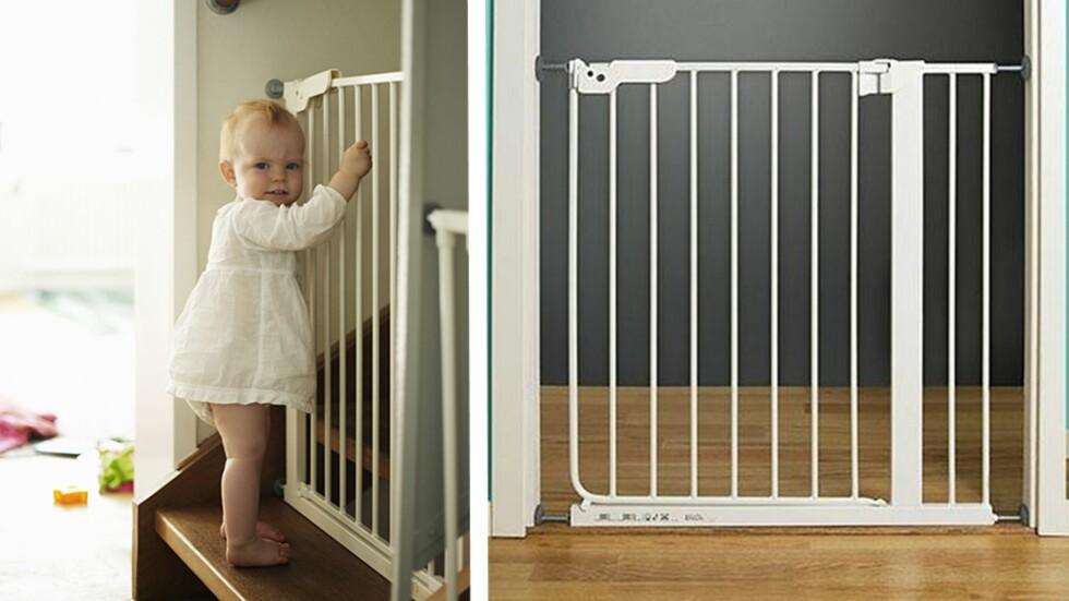 TILBAKEKALLES: Det er denne typen barnegrinder som IKEA nå advarer mot. Foto: NTB Scanpix / IKEA