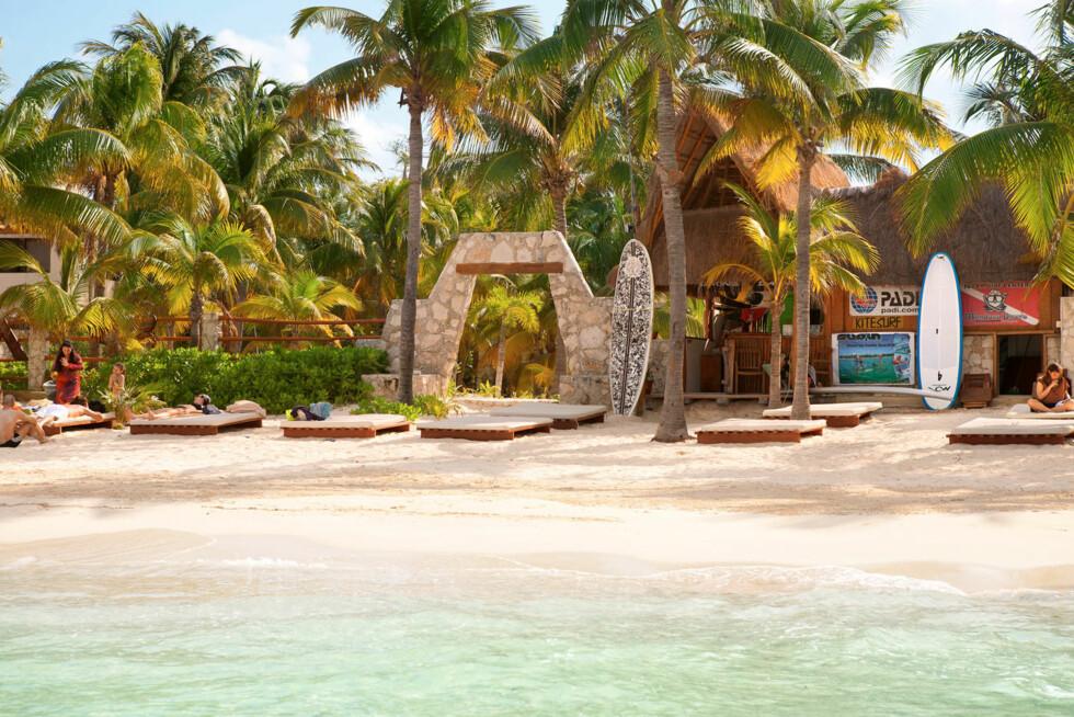 <strong>PLAYA NORTE, ISLA MUJERES:</strong> Denne stranden er ansett for å være den beste i hele Mexico.  Foto: Ving