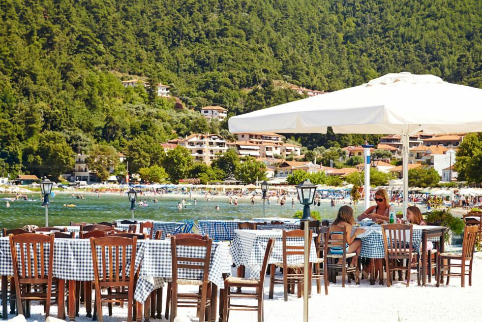 <strong>GOLDEN BEACH:</strong> Svært barnevennlig og vakker strand på den greske øya Thassos. Foto: Ving