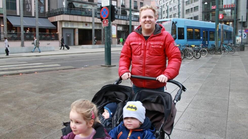 ØNSKER Å VÆRE SOSIAL: - Men det er fortsatt litt for få tilbud for menn i permisjon, mener Martin Grevstad. Foto: Privat