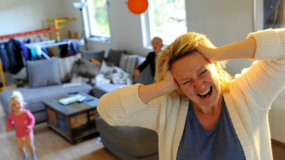 VISER FREM KAOSET: Mammablogger Marte Frimand-Anda blir både hyllet og kritisert for sine ærlige betraktninger om foreldrerollen. Foto: Privat