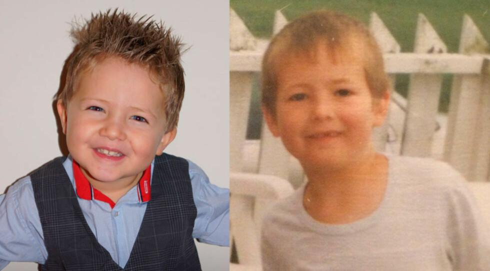 Antonio til venstre og faren til høyre. Foto: privat