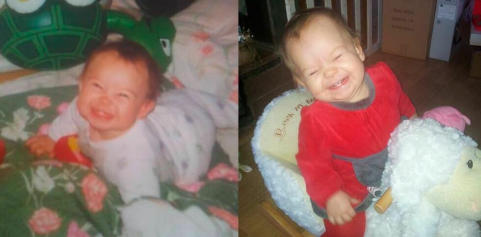 Samme smilet hos mor og datter. Foto: privat