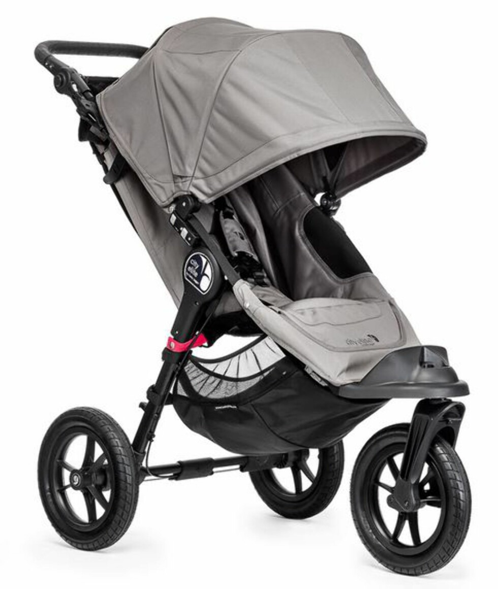 GOD OFFROAD: Babyjogger City Elite kalles SUV utgaven av barnevogner. Pris fra kr 5495 hos Babyshop.no. Foto: Produsenten