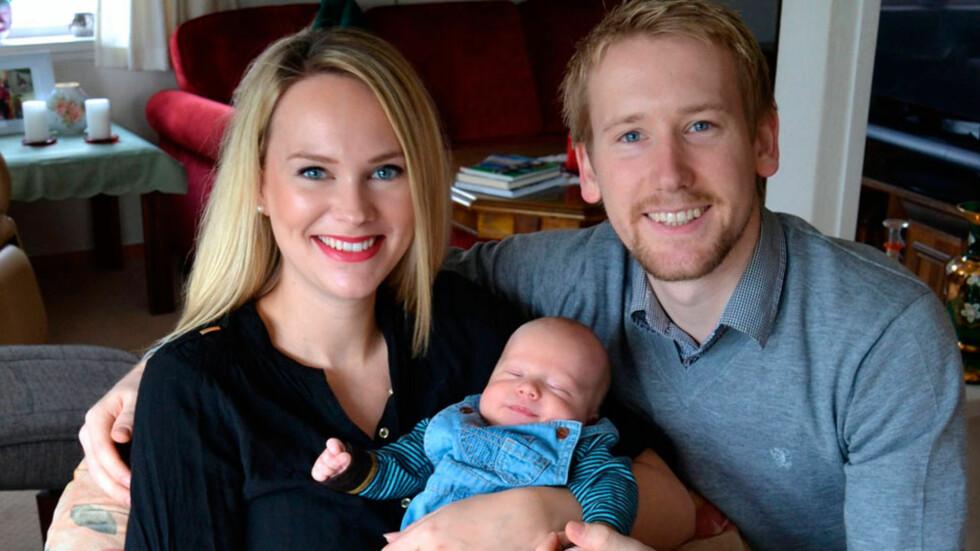 VI FØLTE OSS I GODE, TRYGGE HENDER Charlotte og Thomas Erik deler sin historie om da Benjamin Mikal ble født. Foto: privat
