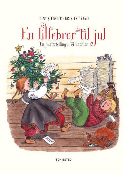 <strong>NY JULEBOK:</strong> Med 24 kapitler er boken «En lillebror til jul» en fint alternativ til tradisjonelle julekalendere. Foto: Schibsted forlag