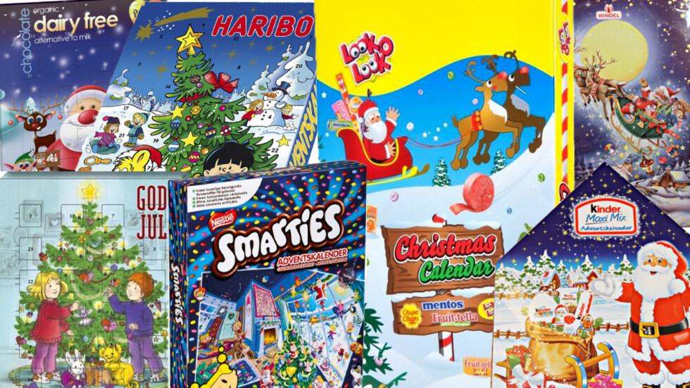 GODTERI I ALLE VARIANTER: Vi har smakt oss frem til hvilke julekalendere som er best. Foto: Produsentene