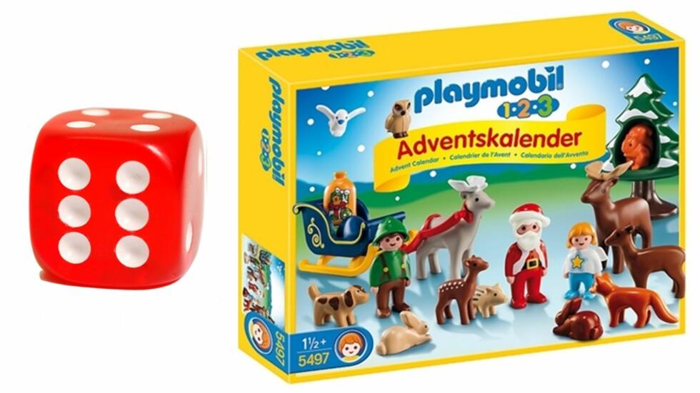 PLAYMOBIL 1-2-3: Kjempefin kalender for de minste barna. Foto: Produsenten