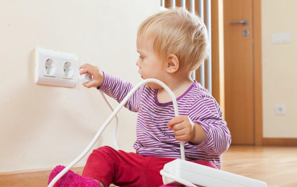 SKREKKSCENARIO FOR FORELDRE: Her er produktene du trenger for å sikre huset ditt. Foto: Shutterstock
