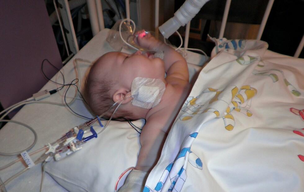 <strong><b>KAN HA REDDET LIVET HANS:</strong></b> Foreldrene er sjeleglade for at de valgte å ta en ekstraordinær ultralydundersøkelse. Foto: Privat