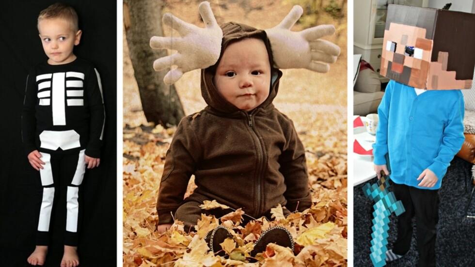 HJEMMELAGDE KOSTYMER: Feiringer som Halloween og karneval trenger ikke koste skjorta om man lager kostymene til barna selv. Foto: Ardor, House of Paint, Anette Snarby