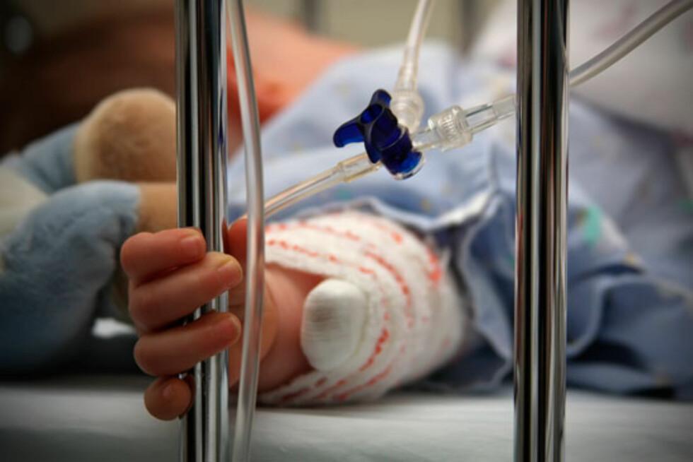 PÅ SYKEHUS: Blir barnet i lengre enn 8 dager i helseinstitusjon, får du pleiepenger. Foto: Shutterstock