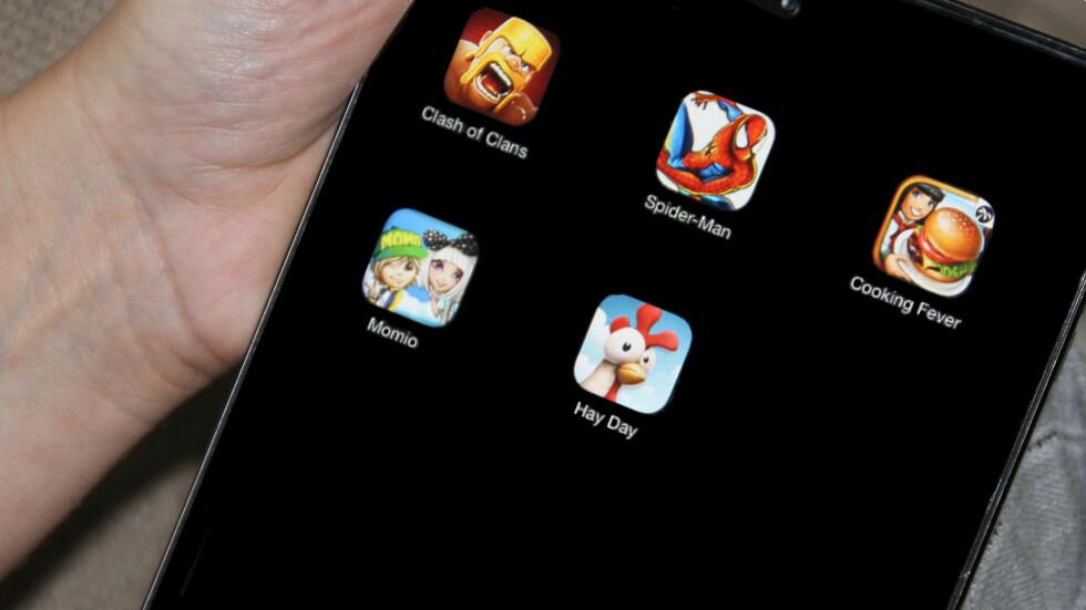 <strong><b>EN JUNGEL AV APPER:</strong></b> Her er det foreldre bør være oppmerksomme på før de lar barna få laste ned en ny app. Foto: Mammanett