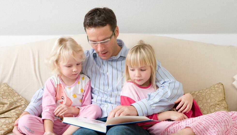 VIKTIG LESESTUND: - Les masse for barnet ditt, sier ekspertene. Foto: Colourbox