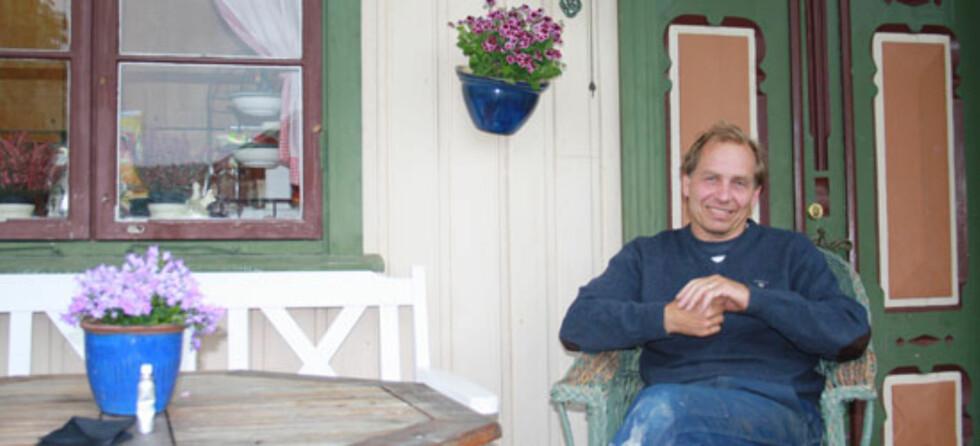 Gunleik er vert på Staursheim Gard. - Jeg liker at det er litt liv og røre på garden, forteller han.