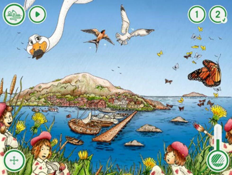 Gratis app fra Svanemerket: En fengende historie om miljøvern. Foto: iTunes
