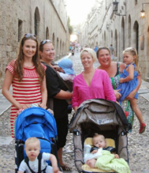 Utfordrende trilleturer i kronglete gater på Rhodos. Foto: Privat