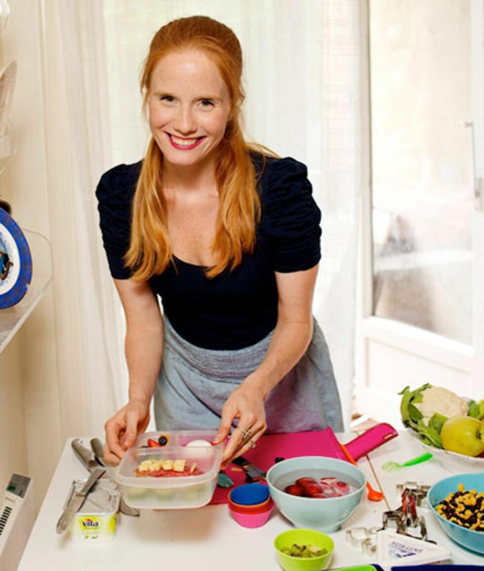 Matjournalist og tobarnsmor Susanne Kaluza:: – Unngå stress - lag matpakka dagen i forveien. Foto: www.susannekaluza.com