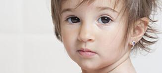 Når er det greit å gi barn hull i ørene?