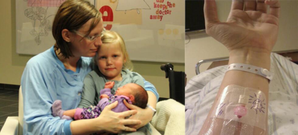 Vibeke har vært gjennom mange prøvelser når hun har vært gravid. I perioder kastet hun opp alt.