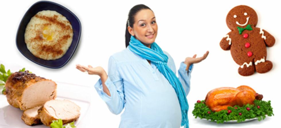 Gravid eller ammende? Dette kan du spise og ikke av julemat